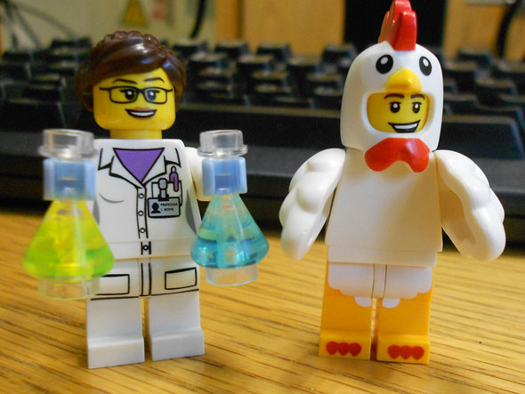 LEGO Minifigures: Female Scientist and Chicken Suit Guy