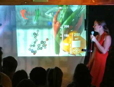 Dr Jenny Slaughter at Science Showoff (image taken from Picture It... Chemistry Blog, http://chempics.wordpress.com/